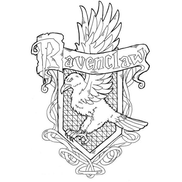 Pin By Ashley Lushbaugh On Creative Harry Potter Colors Harry Potter Coloring Pages Harry Potter Crest