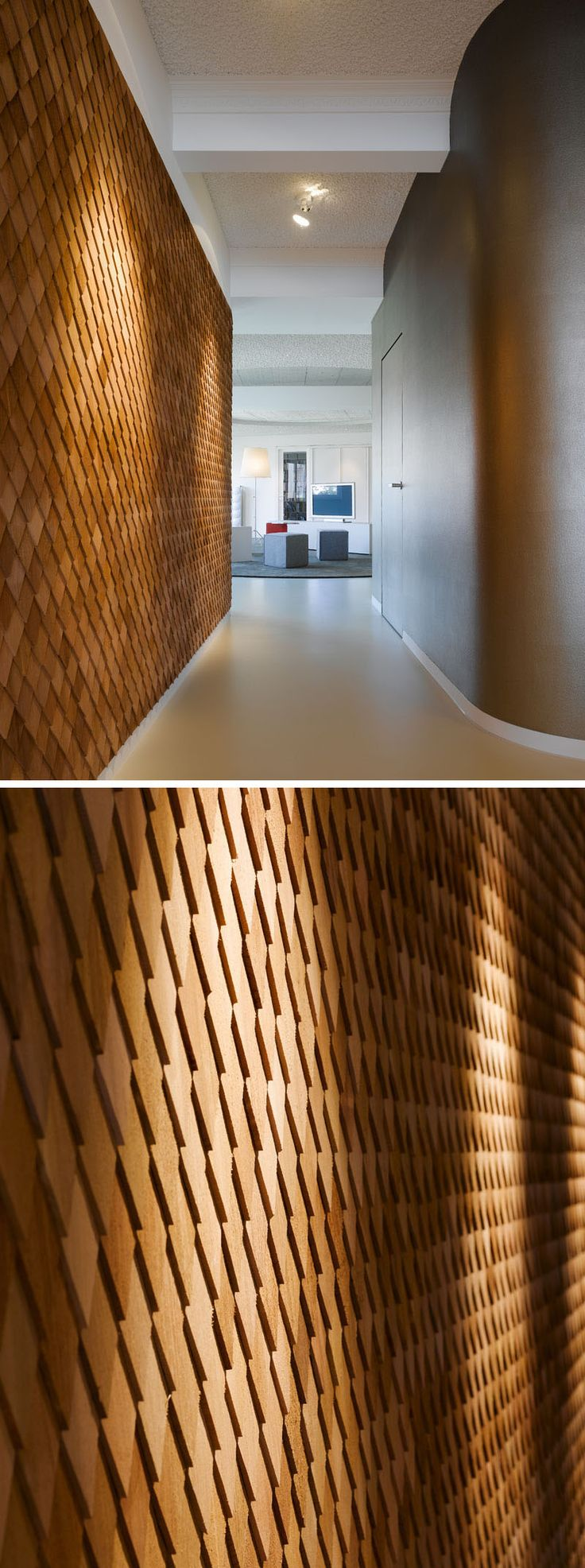 1000 ideas about office building lobby on pinterest for Unique interior wall finishes