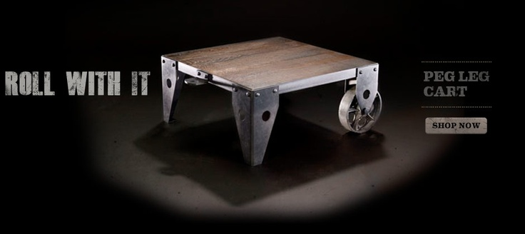 AT-95 Furniture: Furnishings Peg, At 95 Peg Leg Cart, Cart 799, Shops, Let S Table, Legs, Industrial Coffee Tables