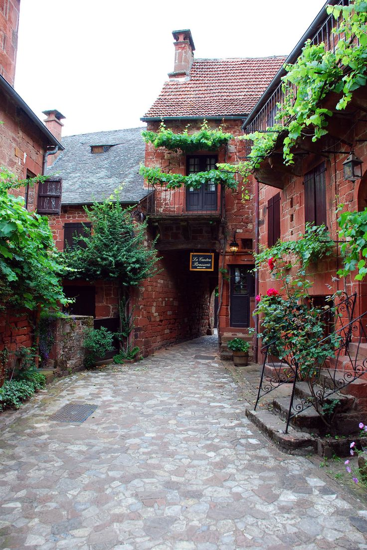 Collonges la Rouge, France - one of the most beautiful villages in France...the whole village is made out of this red brick