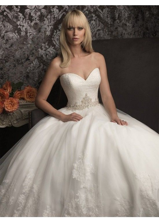 Fashionable Sweetheart A-Line Organza Bridal Wedding Dress