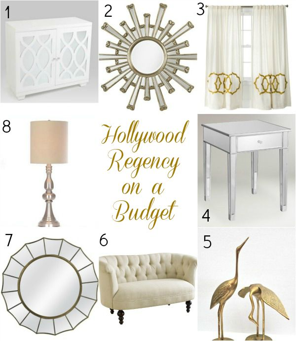 The Look on a Budget: Hollywood Regency