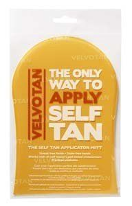 Self Tan Applicator Mitt by VELVOTAN. $5.62. Application is now clean, streak free and easy with Velvotan The Self Tan Applicator Mitt.. Self tan application solved. Velvotan has revolutionised the way in which self tan lotions, creams, mousses, sprays and tinted moisturisers are applied to your body.. Self tan application solved. Velvotan has revolutionised the way in which self tan lotions, creams, mousses, sprays and tinted moisturisers are applied to your body. Applicatio...
