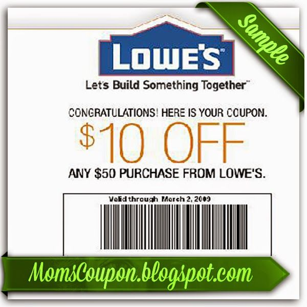 Lowes in store printable coupon 10 off 50 February 2015