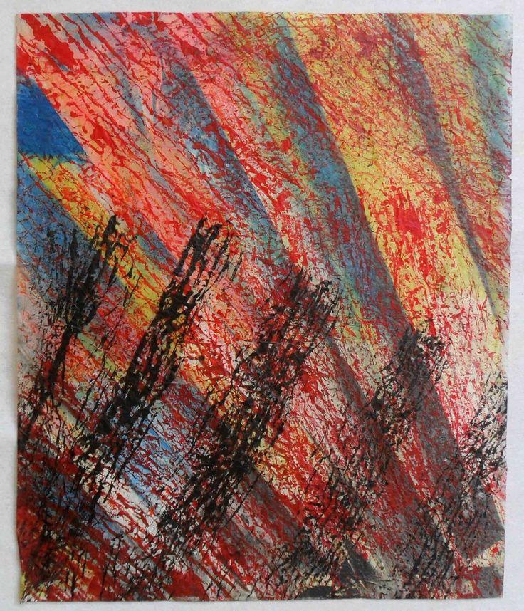 G.A.Zanussi arte contemporanea quadro 49x41 opera su carta   eBay