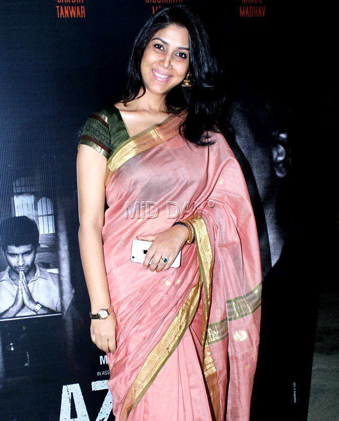Sakshi Tanwar at 'Azaad' movie screening. #Bollywood #Fashion #Style #Beauty #Hot #Saree