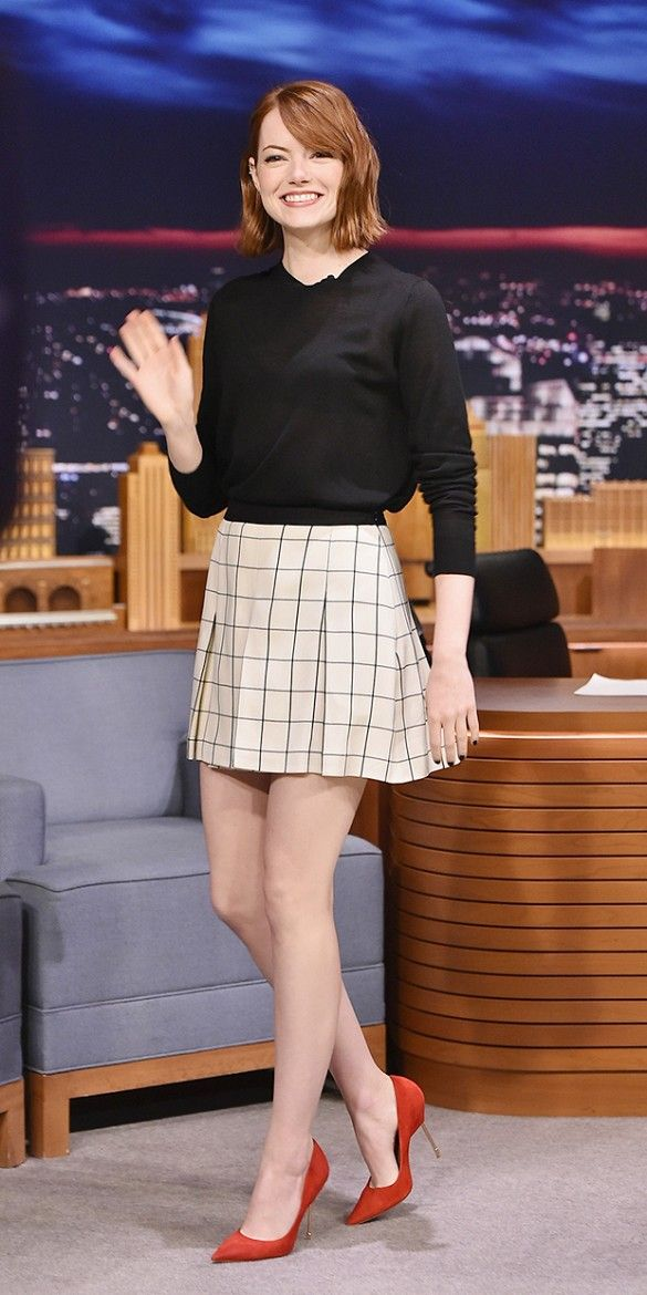 Check, Please! Emma Stone Gets It Right (Again) in Proenza Schouler via @WhoWhatWear