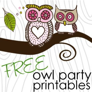 Girlie Owl  Party FREE Printables! - DIY print for free! Owl party!!!