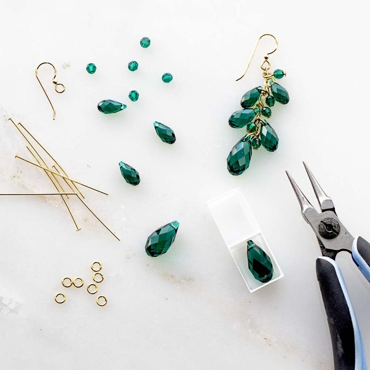 Emerald Night Earrings | Fusion Beads Inspiration Project Gallery