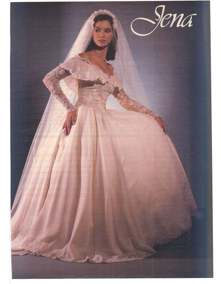 Mejores 364 imágenes de 80\'S AND 90\'S BRIDAL WEDDING FASHION en ...