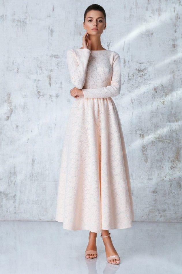 Платье «Аэлита» миди, Розовое кружево, Цена— 29990 рублей