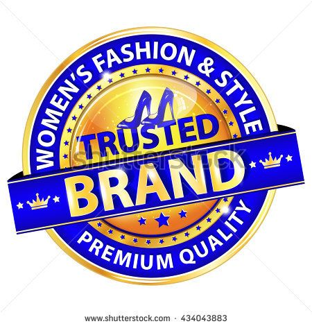 Women's Fashion and Style. Trusted Brand. Premium Quality -  elegant blue ribbon / stamp / button