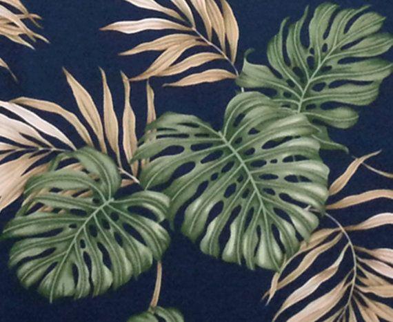 Monstera Leaf Fabric Hawaiian Palm Leaf by HawaiianFabricNBYond