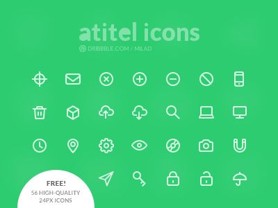 56 high-quality 24px icons, for free! See All Icons Download PSD Enjoy it!