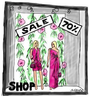 Viele Schaufenster, Werbeanzeigen, Magazine und Online-Shopping-Plattformen verführen zum unüberlegten Kauf. Da heißt es stark bleiben!