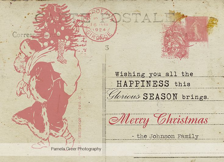 vintage postcard template - Google Search Christmas Cards - postcard template