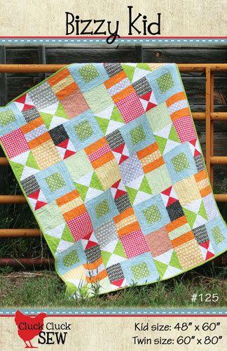 Cluck Cluck Sew - Bizzy Kid Quilt Pattern - Fat Quarter Friendly. $7.50, via Etsy.