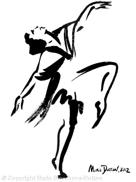 Bacchanalian+Dance+-+Ink+on+paper