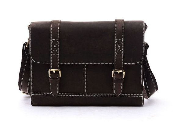 Handcrafted Leather Briefcase / Messenger / by LEATHERLEATHERBAG