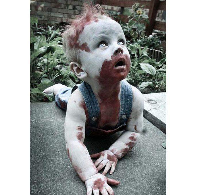 Enfants: 10 déguisements d'Halloween de dernière minute |2. Bébé zombie