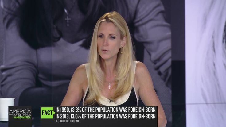 ANN Coulter made a fool out of a Trump-Hateing reporter on his own show
