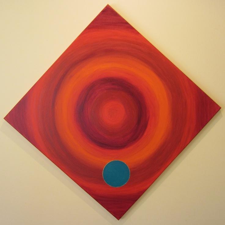 """Grounded""  ~ Artwork by Sharon Morgan acrylics on canvas. #mandala #redmandala"