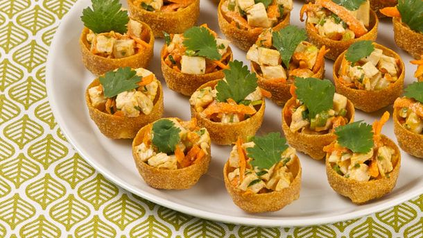 Thai Chicken Salad Croustades