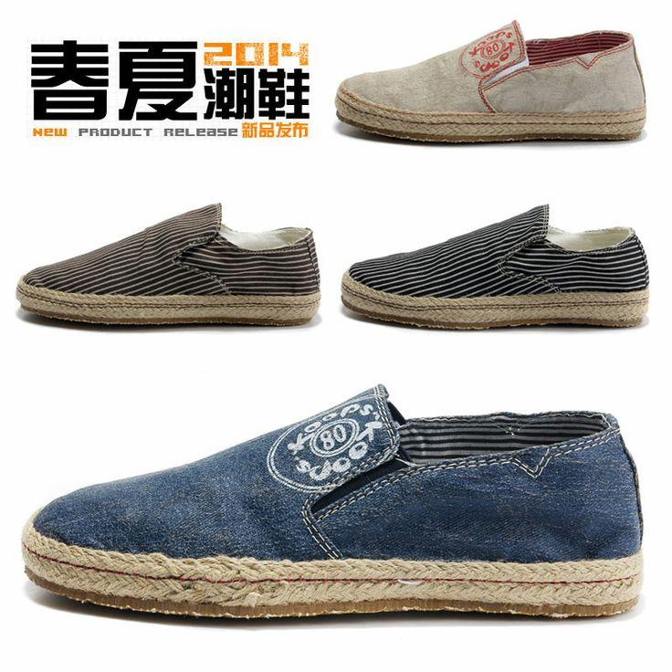 2014 новых мужских холст обувь, повседневная обувь, мужская обувь корейской версии весеннего половодья на педаль ленивый соломы обувь мужской обуви - eBoxTao, English TaoBao Agent, Purchase Agent. покупка агент