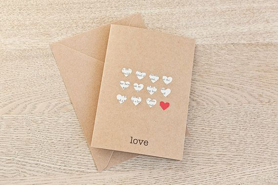 Valentine or Anniversary Card -  Tiny Hearts Design