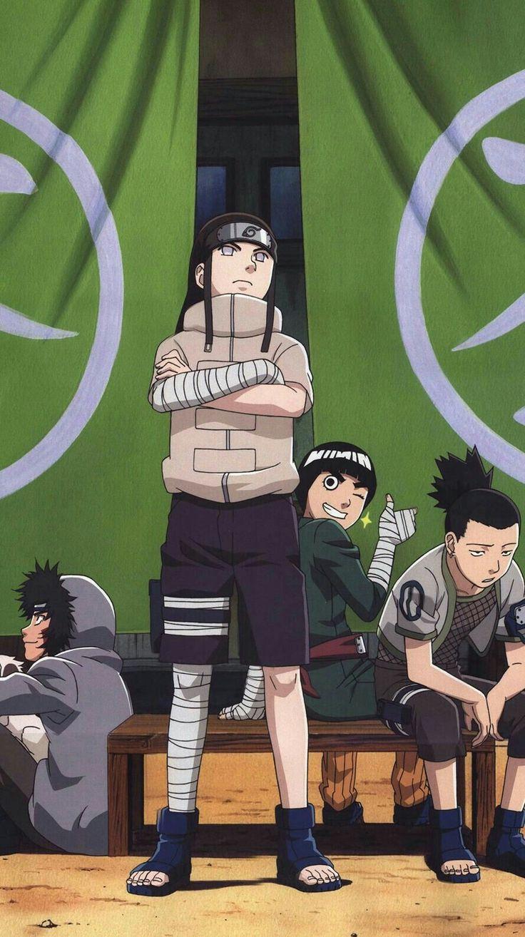 Neji, Rock Lee & Shikamaru Naruto shippuden anime, Anime