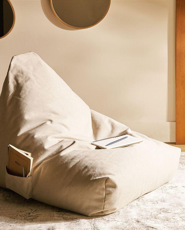 Zitzak Zila Lila.Sitzkissen Aus Baumwoll In 2020 Zara Home Zara Home Bedroom