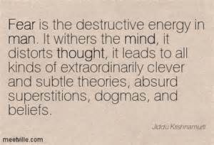 psychological warfare designed to create fear, to pervert and demoralize, to taint and distort
