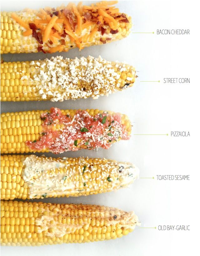Grilled Corn-On-The-Cob 5 Ways—Simple Side To Sate Any Craving!