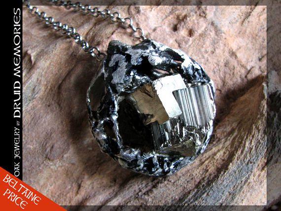 Pyrite pendant Baladan  druids jewelry druids