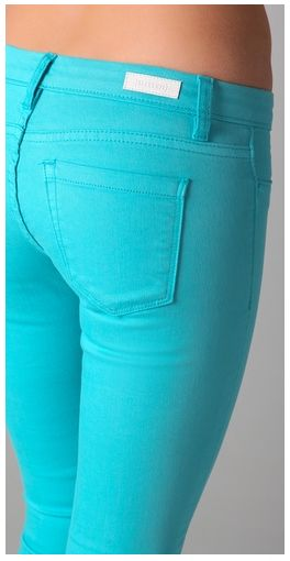 Need this color: Blue Skinny Jeans, A Mini-Saia Jeans, Colors Pants, Turquoi Skinny, Blank Denim, Blue Jeans, Colors Skinny, Aqua Jeans, Teal Jeans