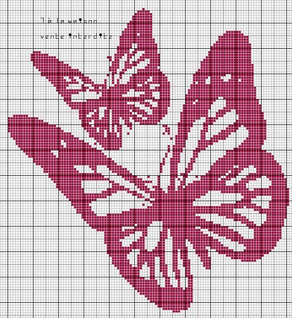 2 papillons monochrome en grille gratuite :