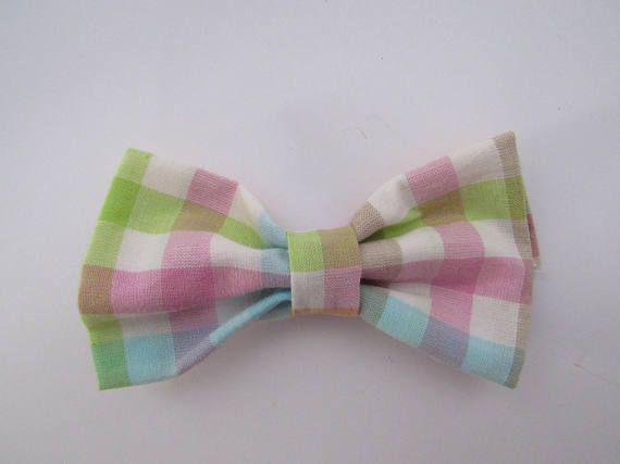 multicolored Pastel Plaid Bow ties baby bow ties toddler bow