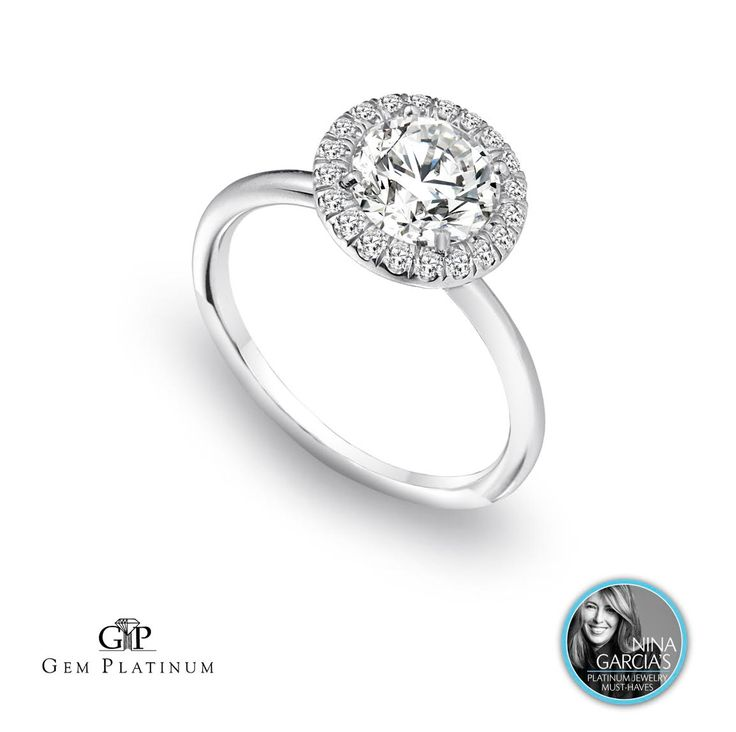 Nina Garcia, Marie Claire's Creative Director and Style Expert, selected this Jeffrey Daniels Unique Designs halo diamond ring as one of 25 Platinum Must-Have Pieces for 2015. This ring will be displayed on The Knot highlighting the gallery! #beplatinum View more designs: http://bit.ly/UO1yOW