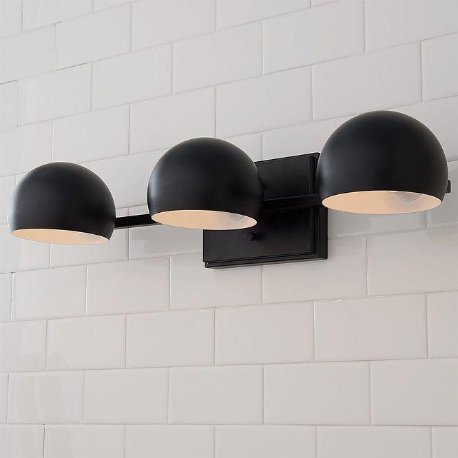 Just Enough Retro Vanity Light Modern Vanity Lighting Black Bathroom Light Modern Bathroom Vanity Lighting Matte black bathroom light fixtures