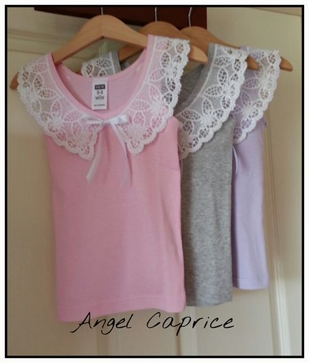 Lace collar singlet set.