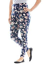 5d72e41b2af Woman Within Plus Size Tall Stretch Cotton Printed Legging
