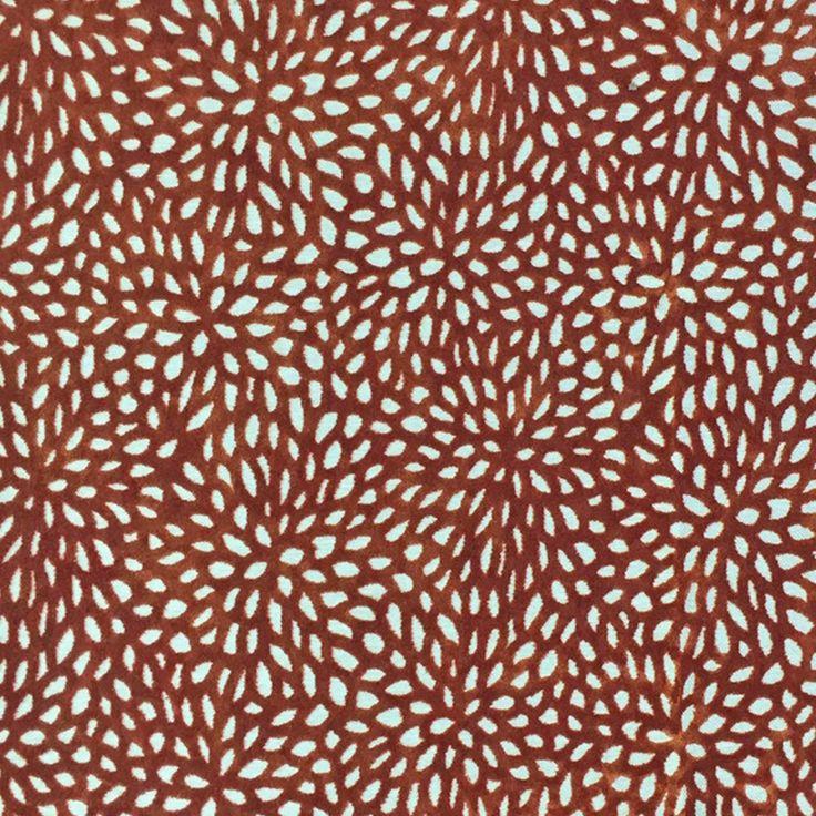 Haute House Fabric   Bande Orange   Floral Velvet #3910