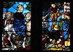 Panoramio - Photo of Milano - Vetrate del Duomo - Vetrata 5 - Entrata di Gesù in Gerusalemme e incontro con Zaccheo - Secolo XV