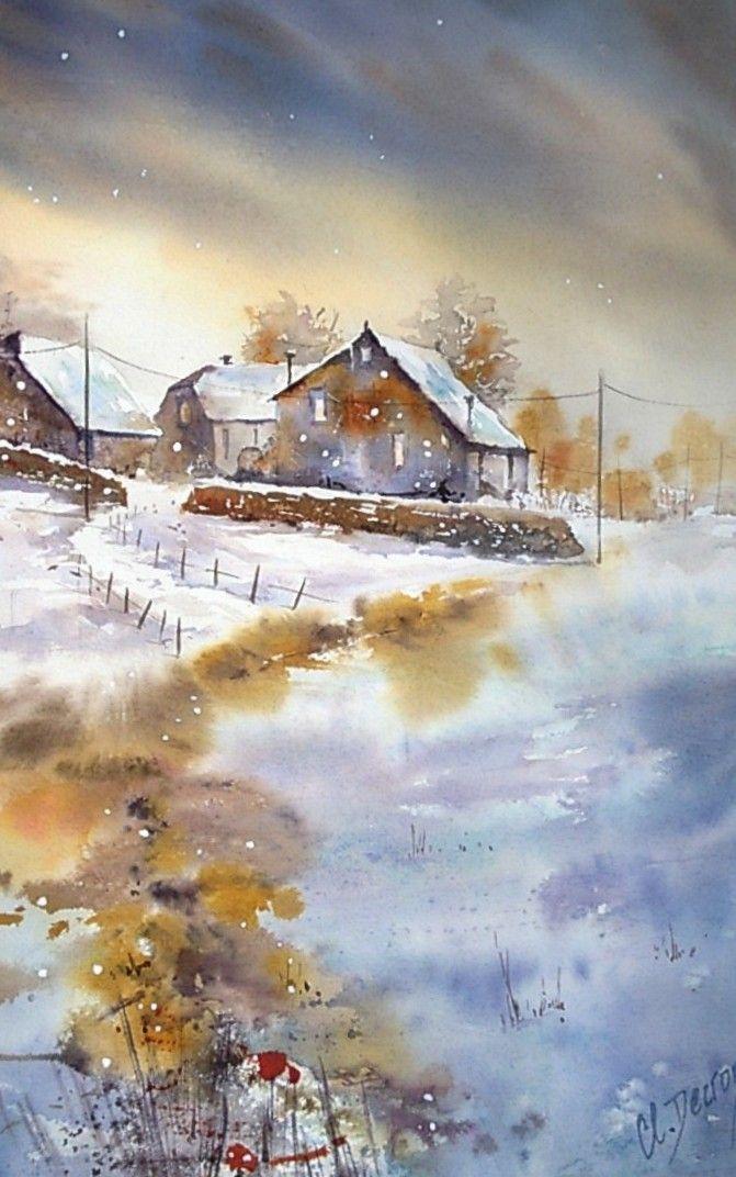 Image Par Tina Chao Sur Landscape En 2020 Paysage Aquarelle