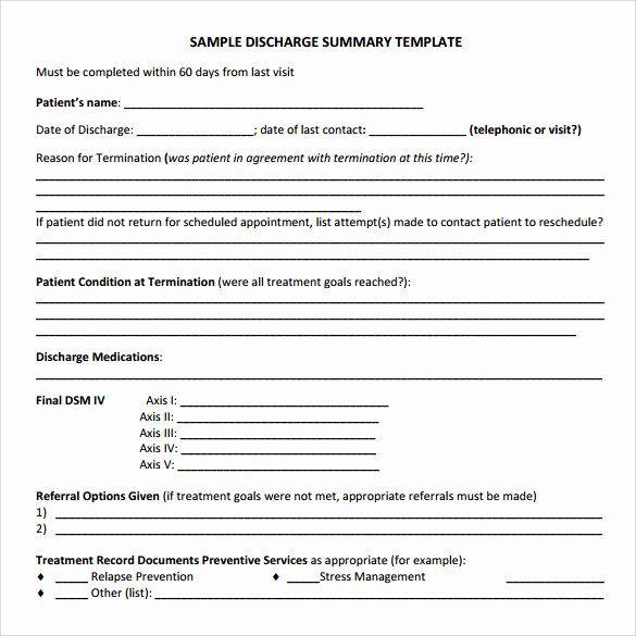 30 Patient Discharge Form Template In 2020 Templates Online