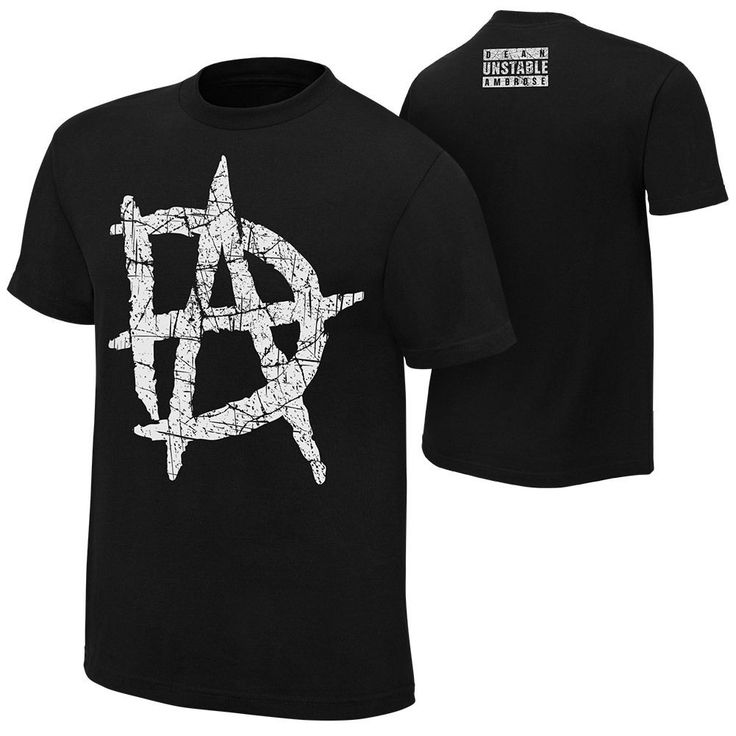 Dean Ambrose UNSTABLE LOGO Black WWE Authentic T-Shirt OFFCIAL LICENSED - http://bestsellerlist.co.uk/dean-ambrose-unstable-logo-black-wwe-authentic-t-shirt-offcial-licensed/