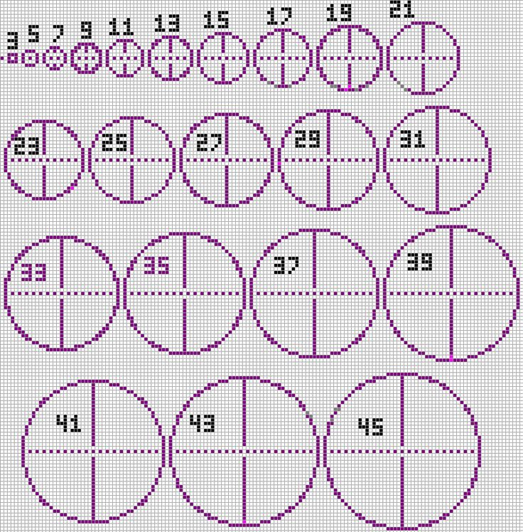 Basic circular patterns, taken from a Minecrafter, but just as useful in P.C.