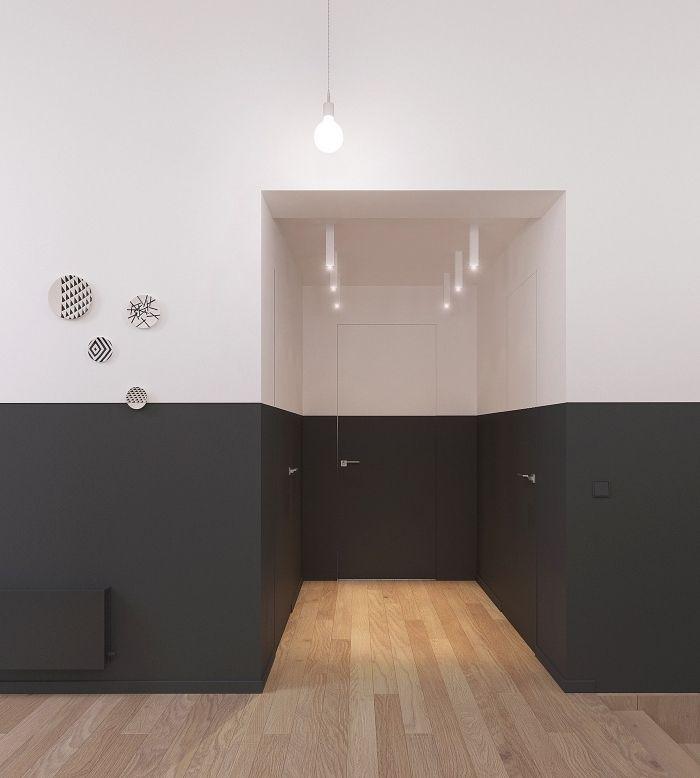 1001 + idées de couleurs pour une peinture couloir originale | Hallway paint, Door design ...
