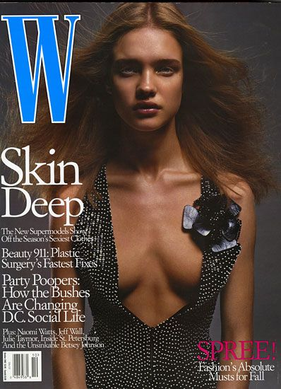 The Best of Natalia Vodianova - Natalia Vodianova's first solo W cover October 2002