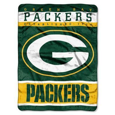 Buy NFL Green Bay Packers Strike Raschel Throw Blanket from Bed Bath & Beyond